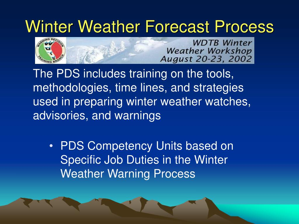 Winter Weather Forecast Process