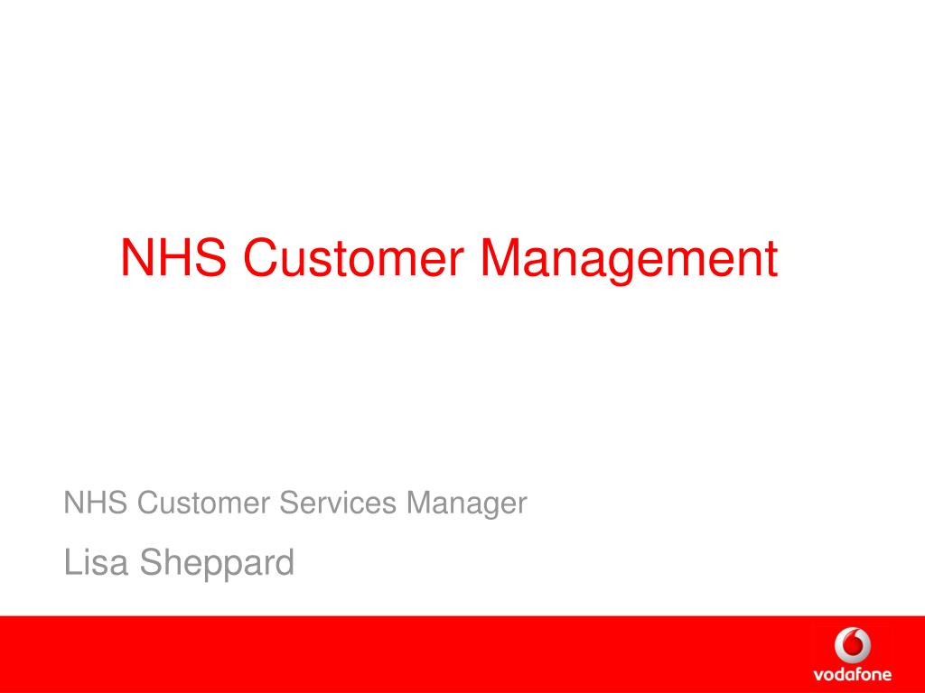 NHS Customer Management
