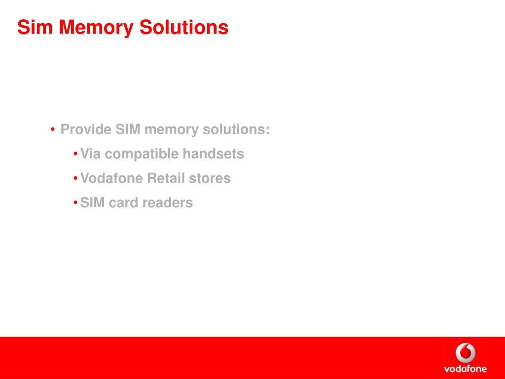 Sim Memory Solutions