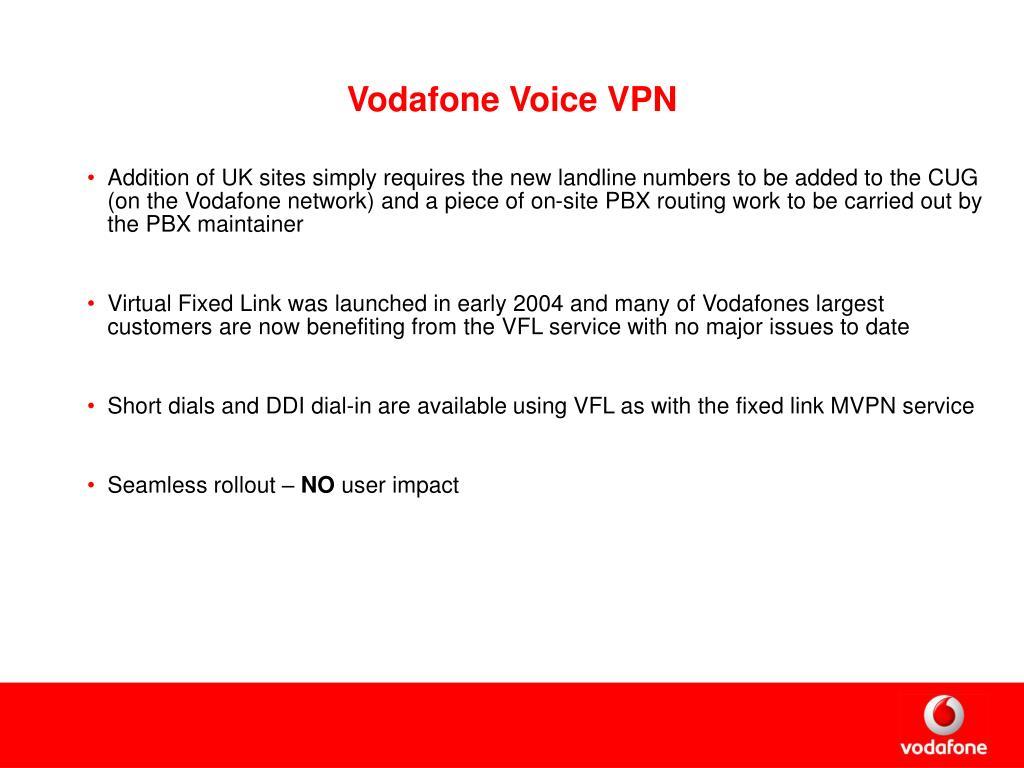 Vodafone Voice VPN