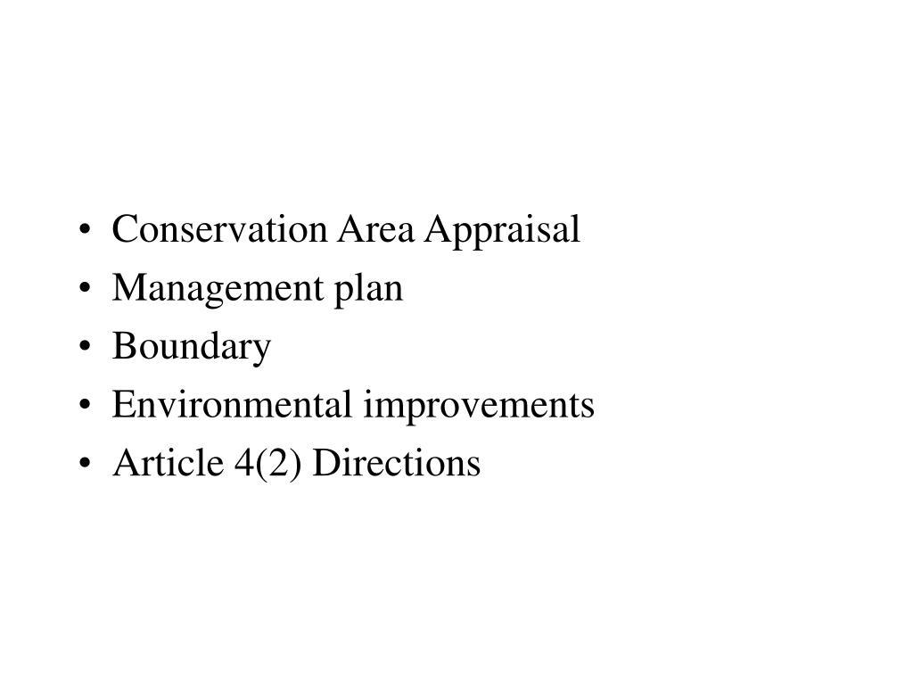 Conservation Area Appraisal