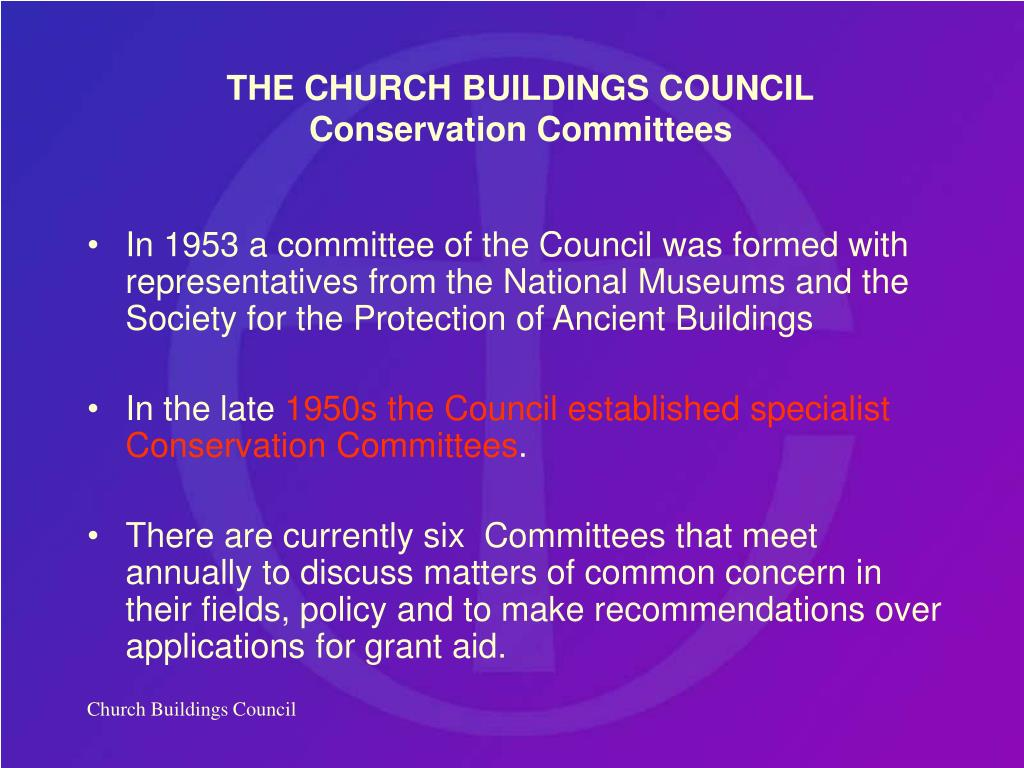 THE CHURCH BUILDINGS COUNCIL