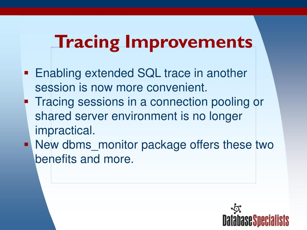 Tracing Improvements
