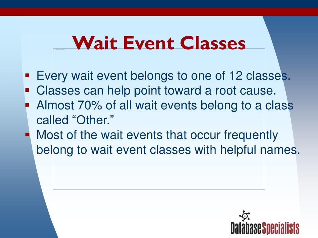 Wait Event Classes