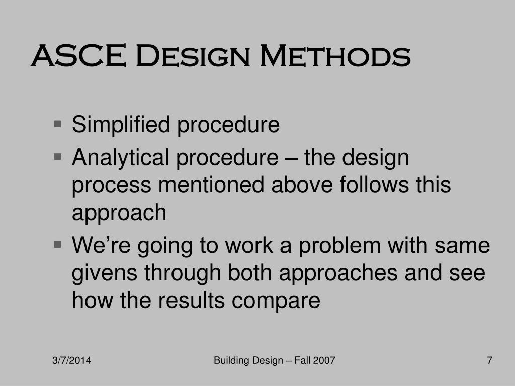 ASCE Design Methods