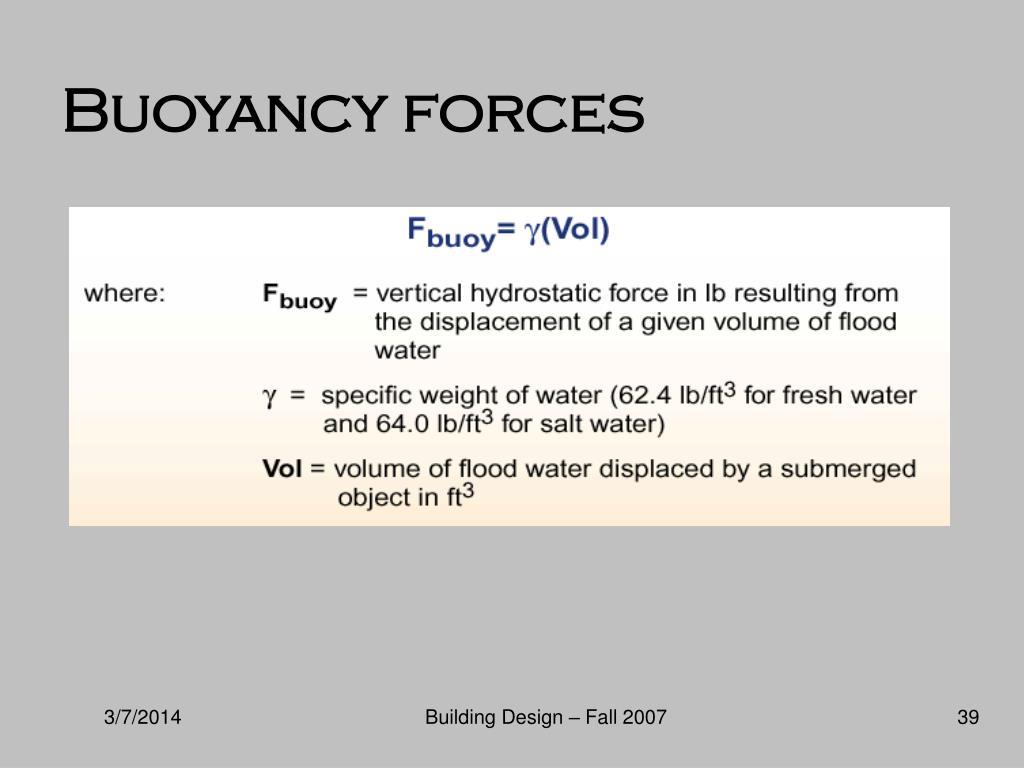 Buoyancy forces