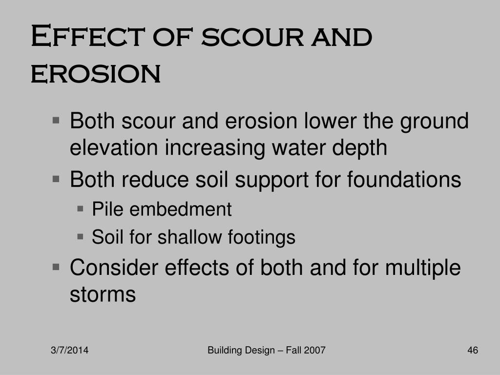 Effect of scour and erosion