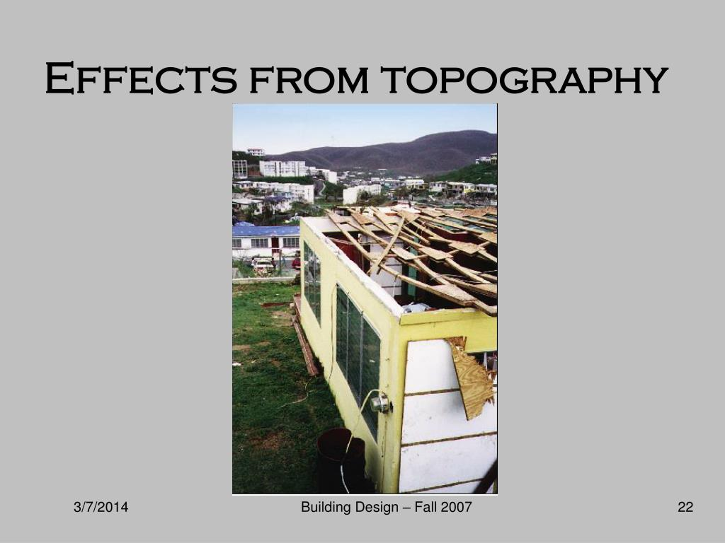 Effects from topography