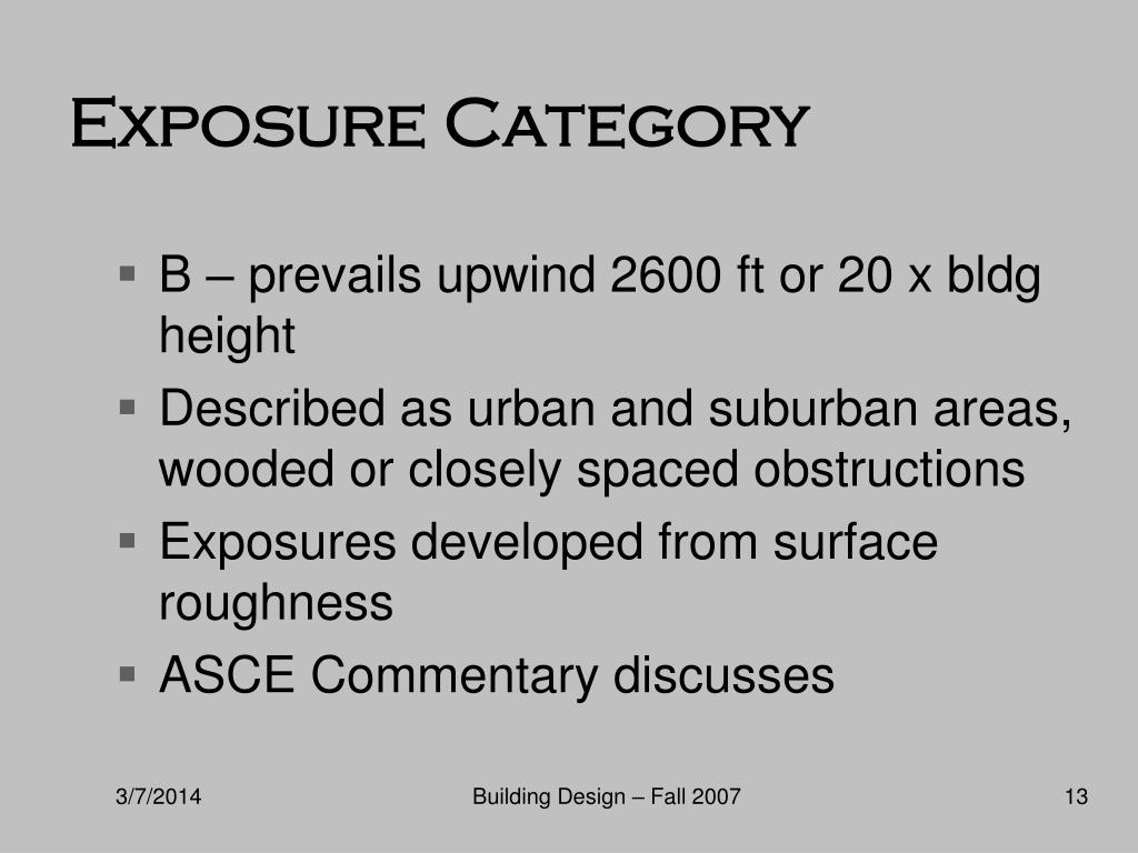 Exposure Category