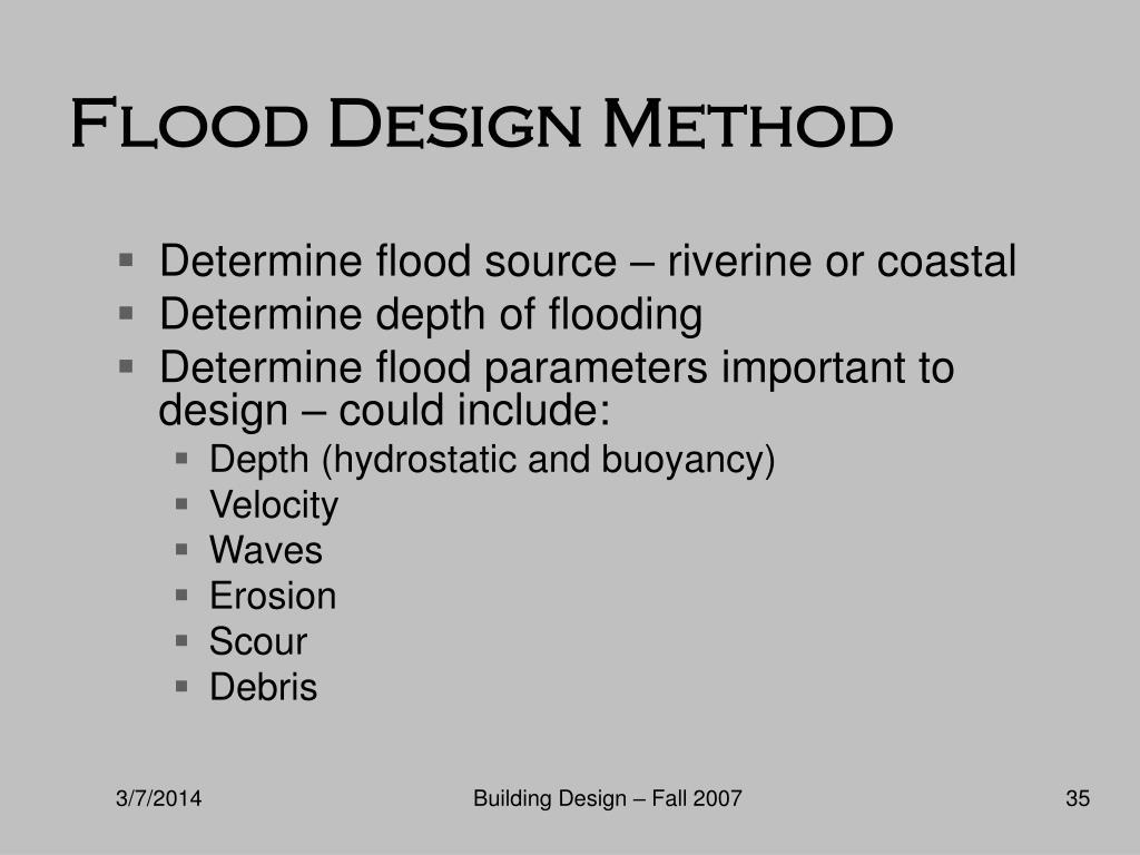 Flood Design Method