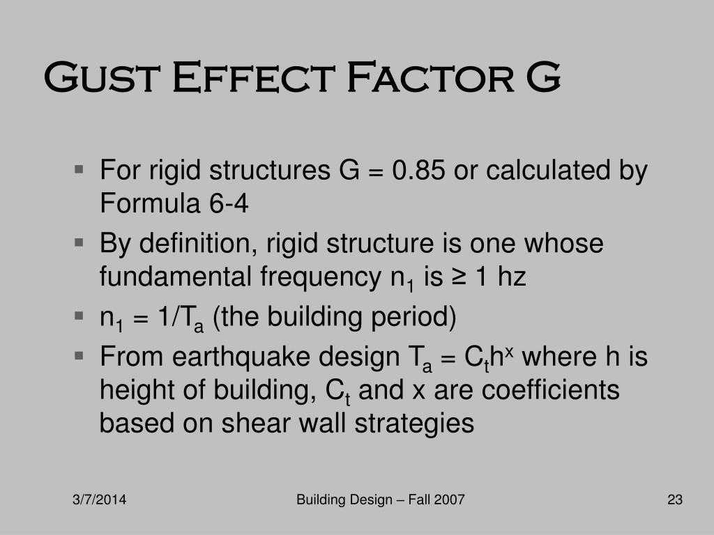 Gust Effect Factor G