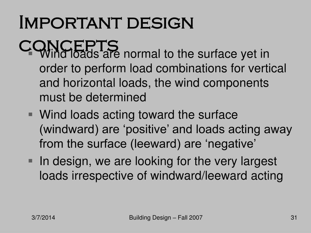 Important design concepts