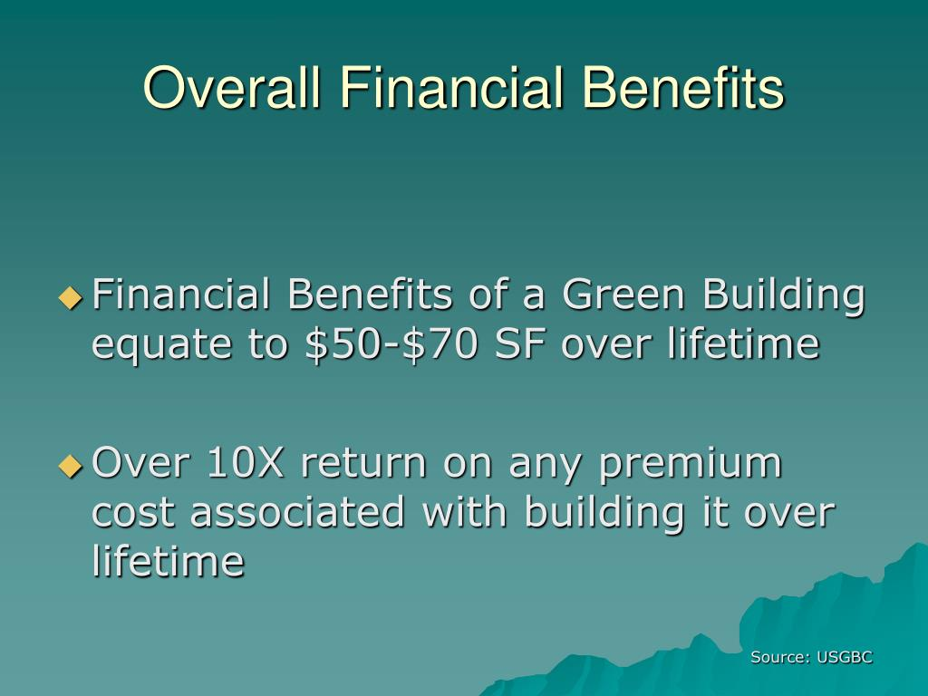 Overall Financial Benefits