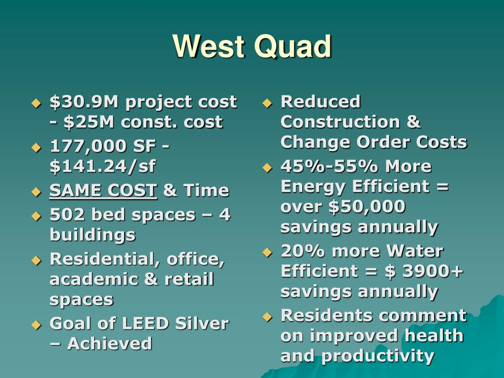 $30.9M project cost - $25M const. cost