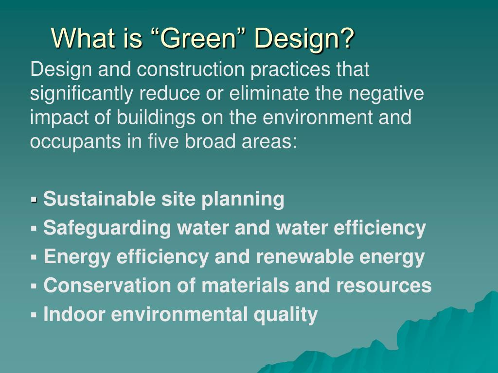 "What is ""Green"" Design?"