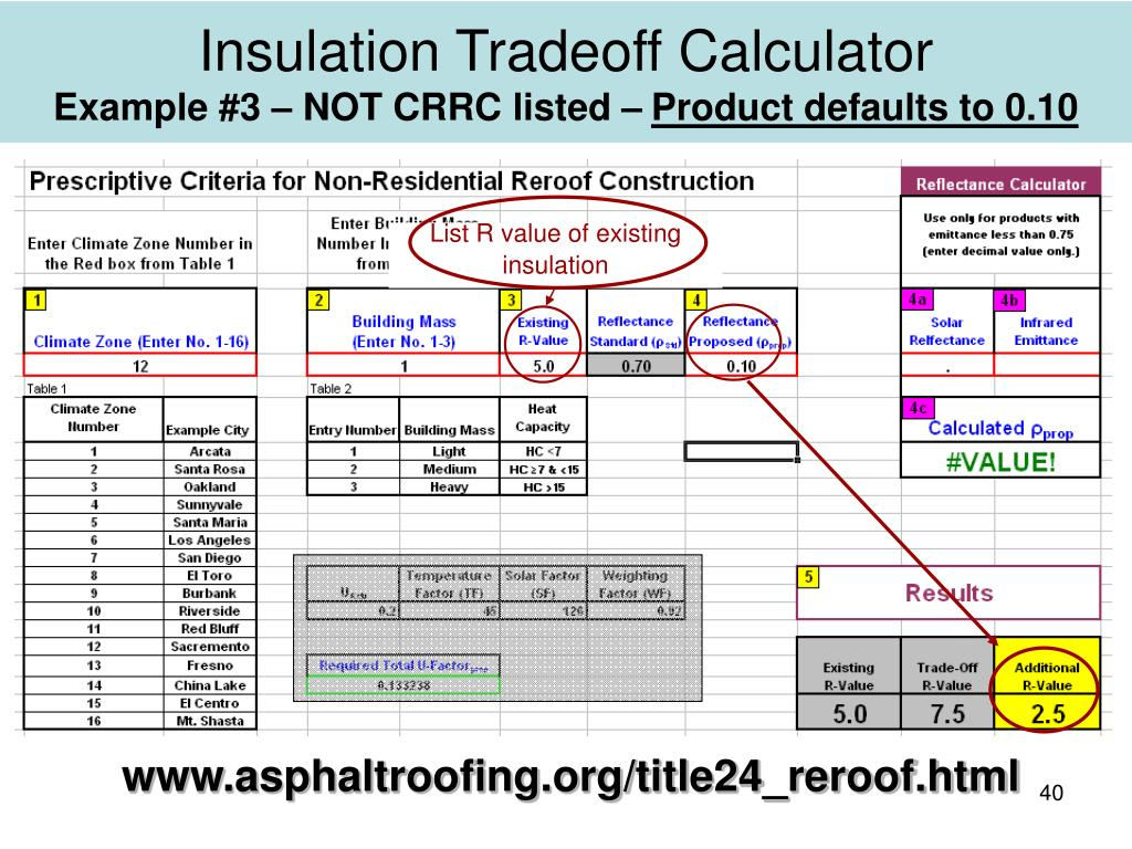 List R value of existing insulation