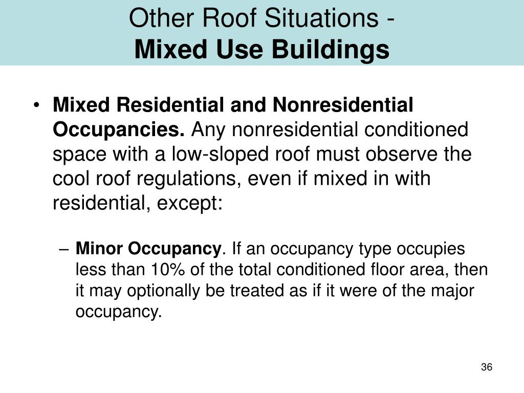 Other Roof Situations -