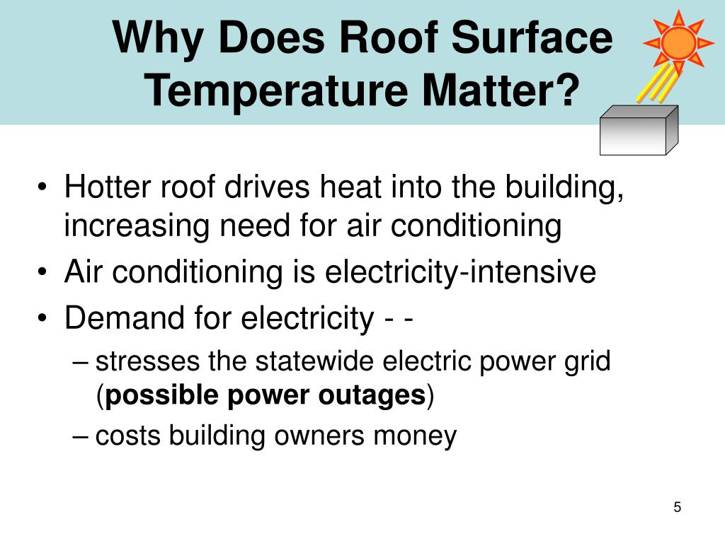 Why Does Roof Surface Temperature Matter?