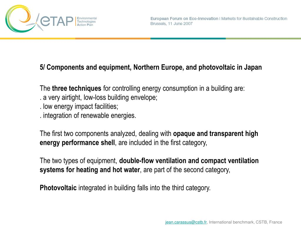 5/ Components and equipment, Northern Europe, and photovoltaic in Japan