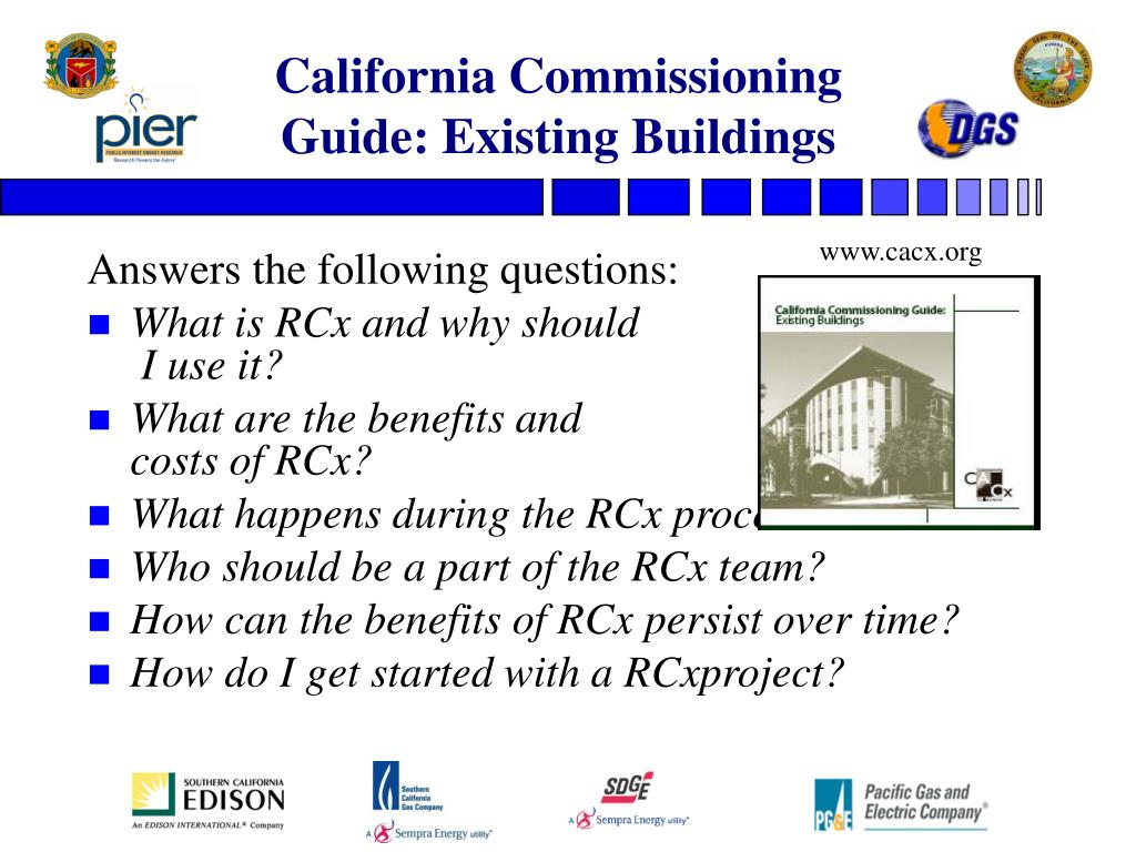 California Commissioning Guide: Existing Buildings
