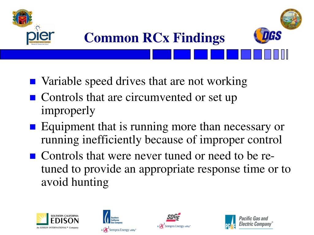 Common RCx Findings