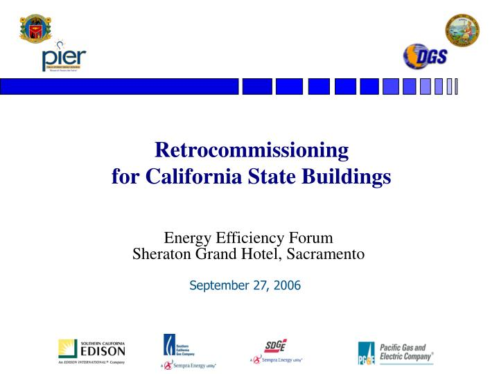 Retrocommissioning for california state buildings
