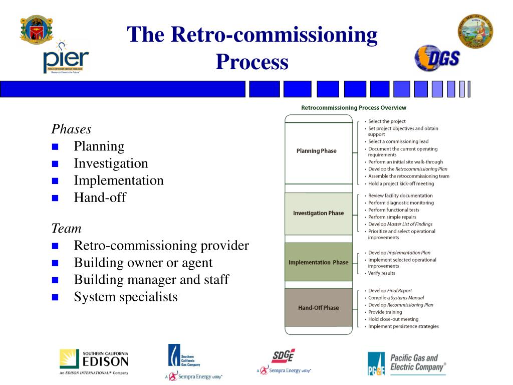 The Retro-commissioning Process