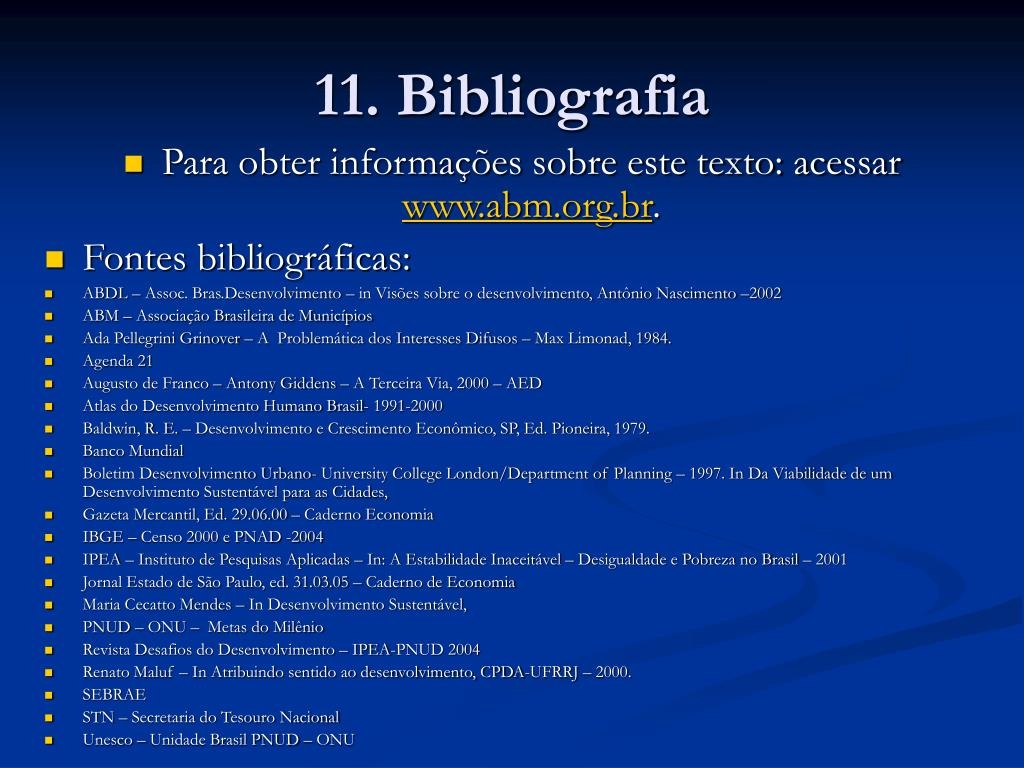 11. Bibliografia