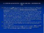 2 1 an lise qualitativa brasil 2000 2003 crit rios do idh