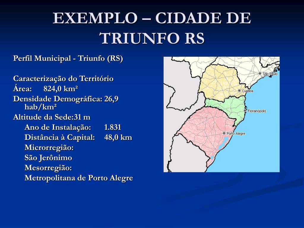 EXEMPLO – CIDADE DE TRIUNFO RS