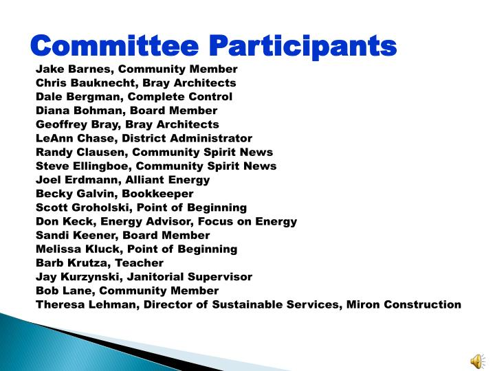 Committee Participants