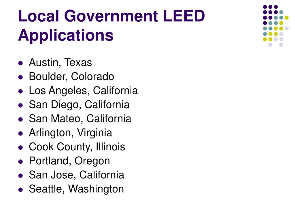 Local Government LEED Applications