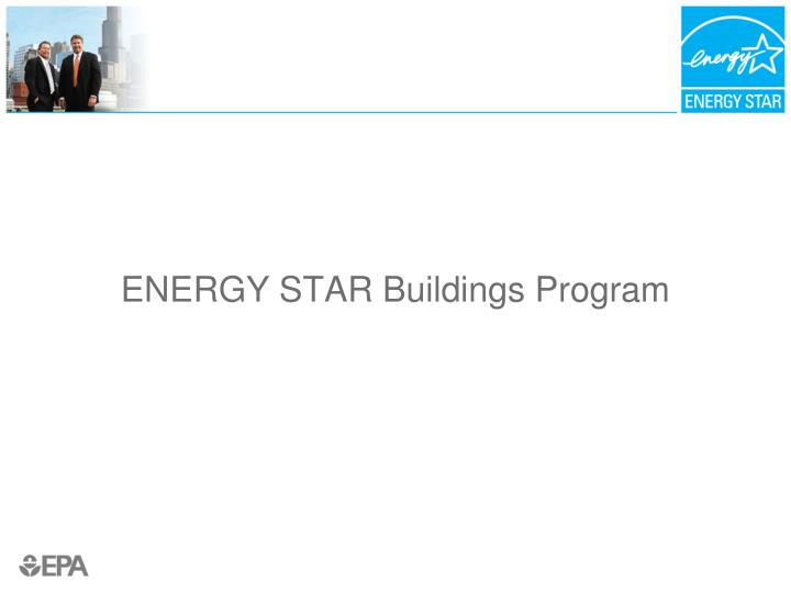 Energy star buildings program