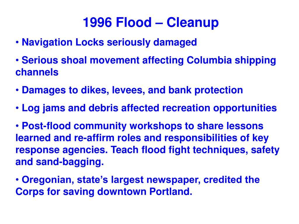 1996 Flood – Cleanup