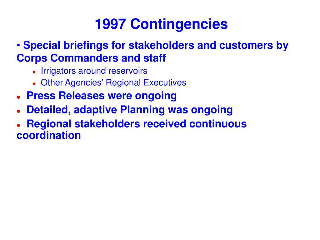 1997 Contingencies