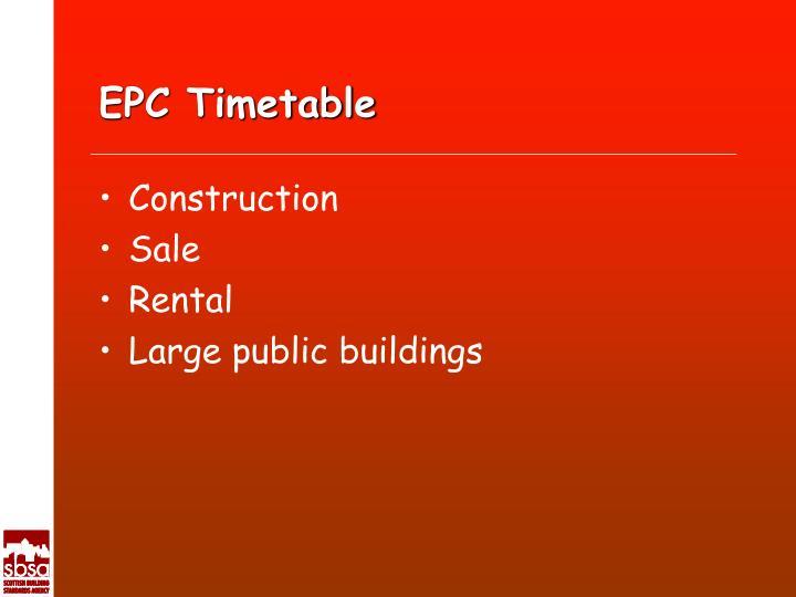 EPC Timetable