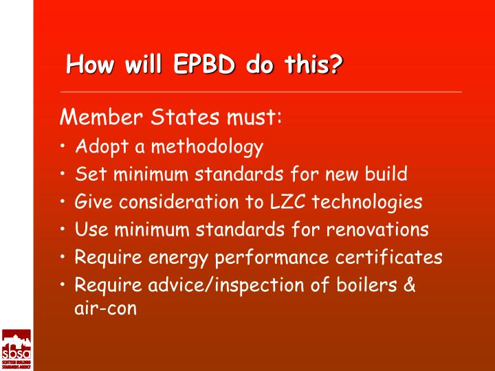 How will EPBD do this?