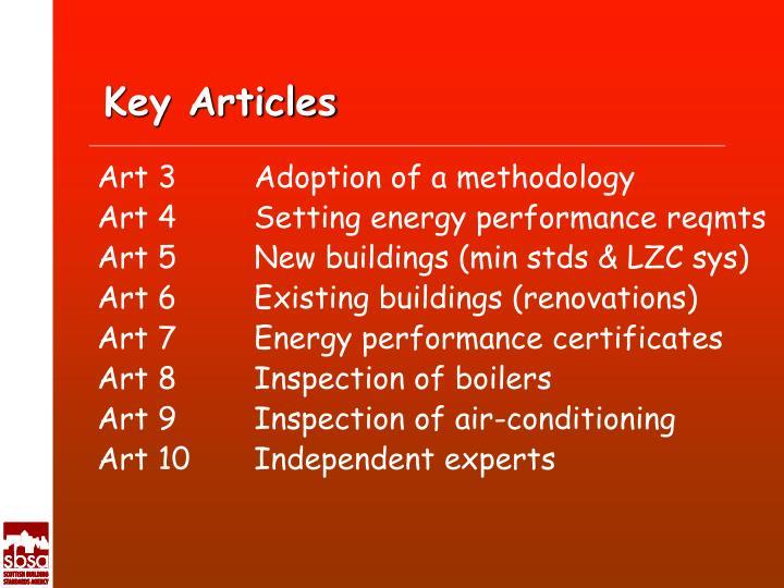 Key Articles