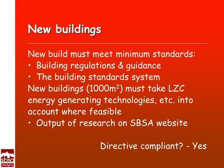 New buildings