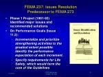fema 237 issues resolution predecessor to fema 273
