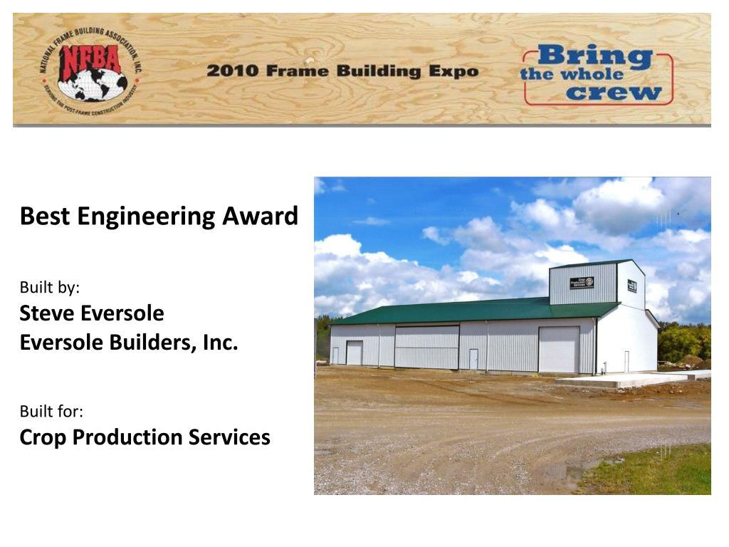 Best Engineering Award