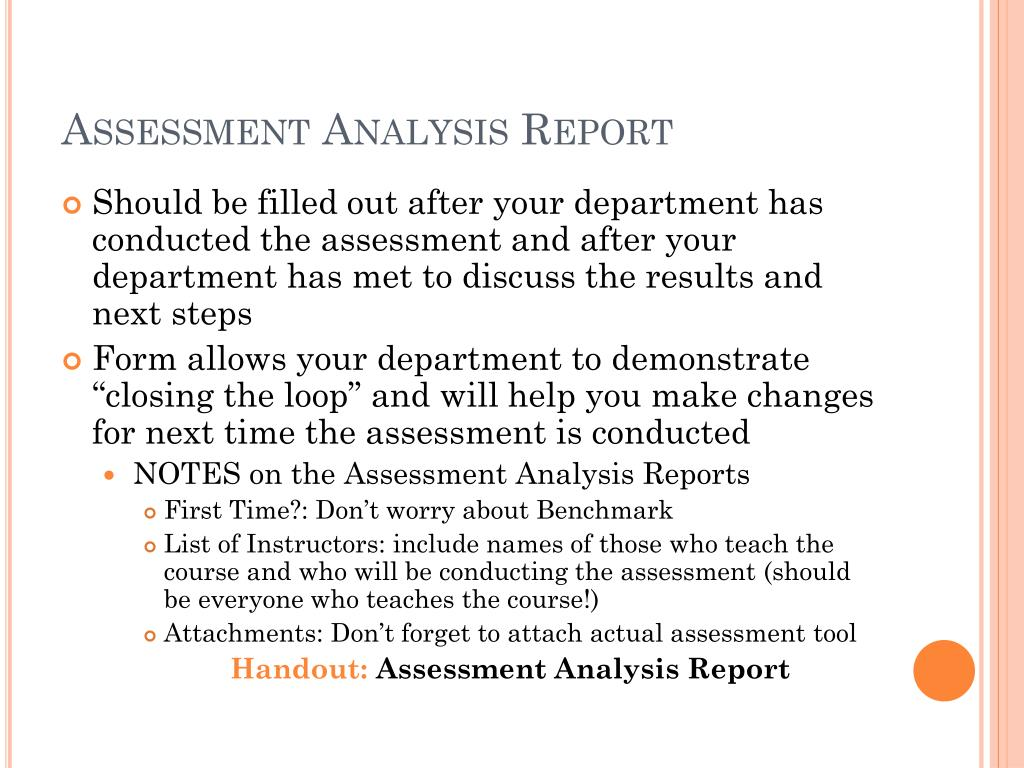 Assessment Analysis Report