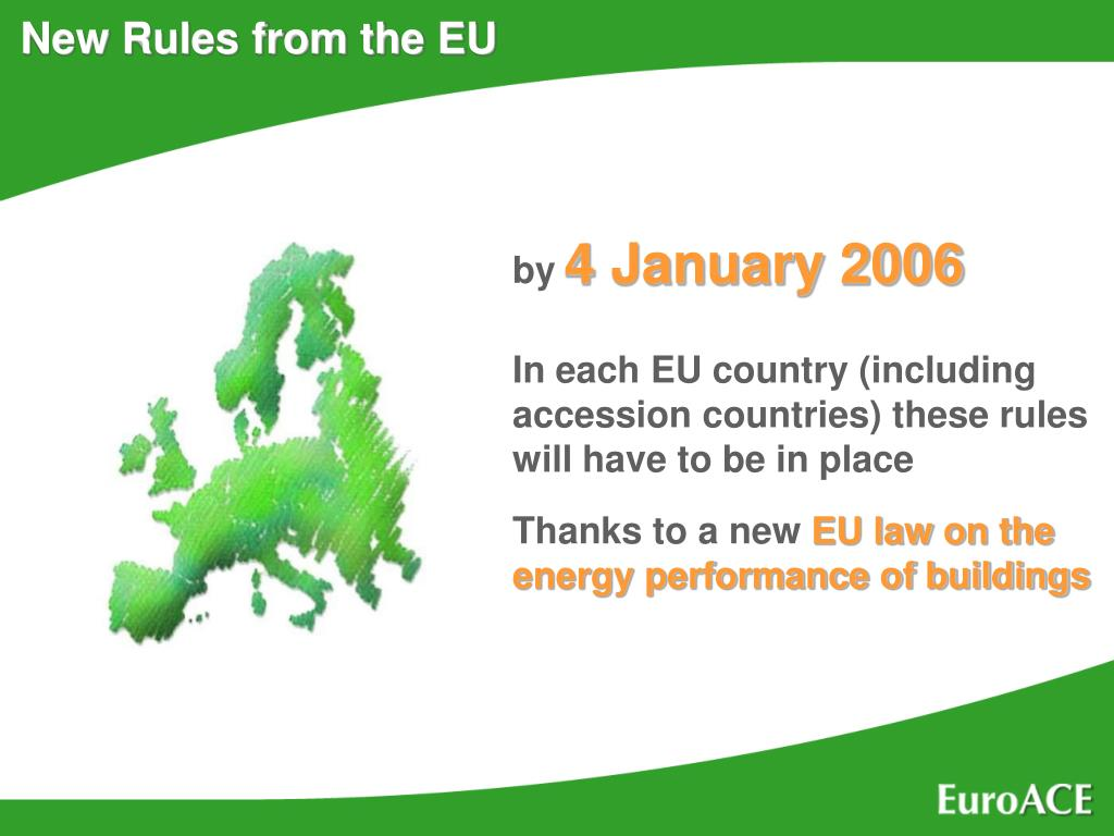 New Rules from the EU