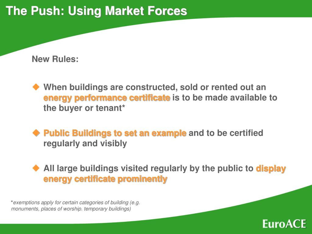 The Push: Using Market Forces
