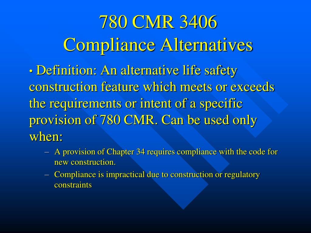 780 CMR 3406