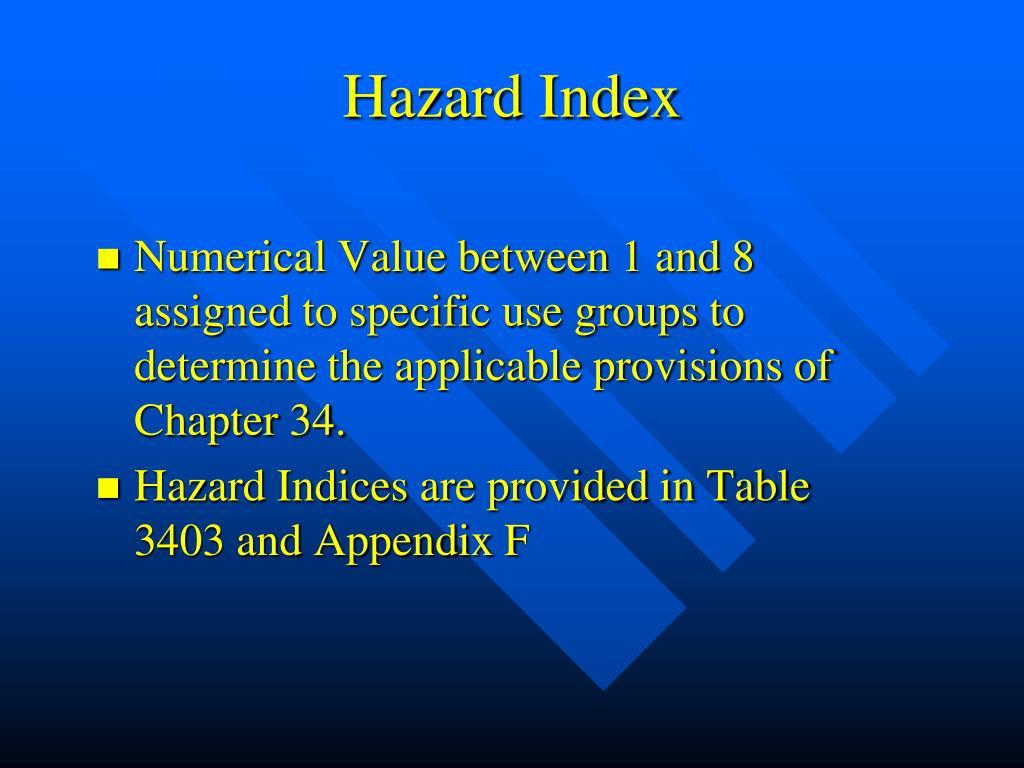 Hazard Index