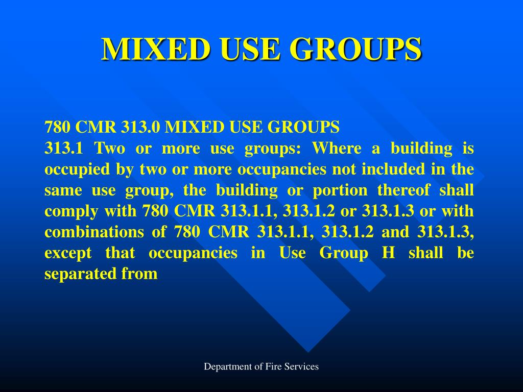 MIXED USE GROUPS