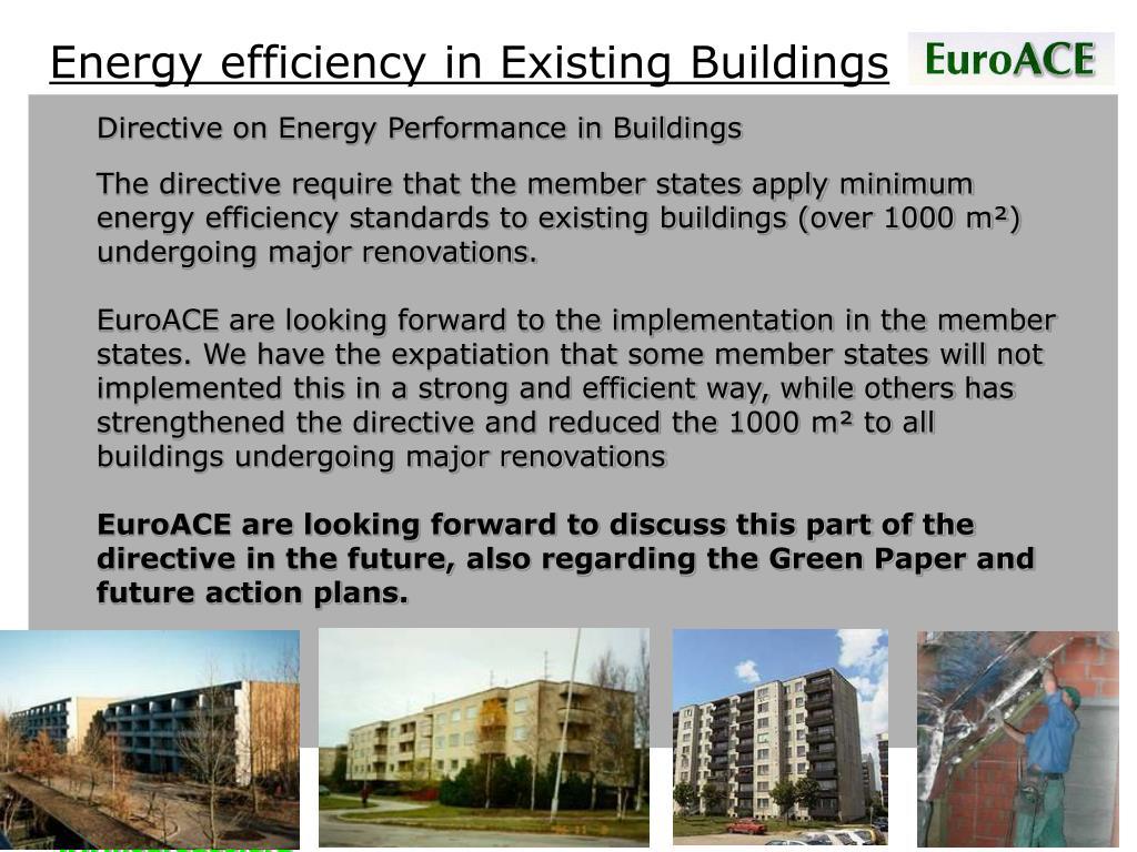 Energy efficiency in Existing Buildings