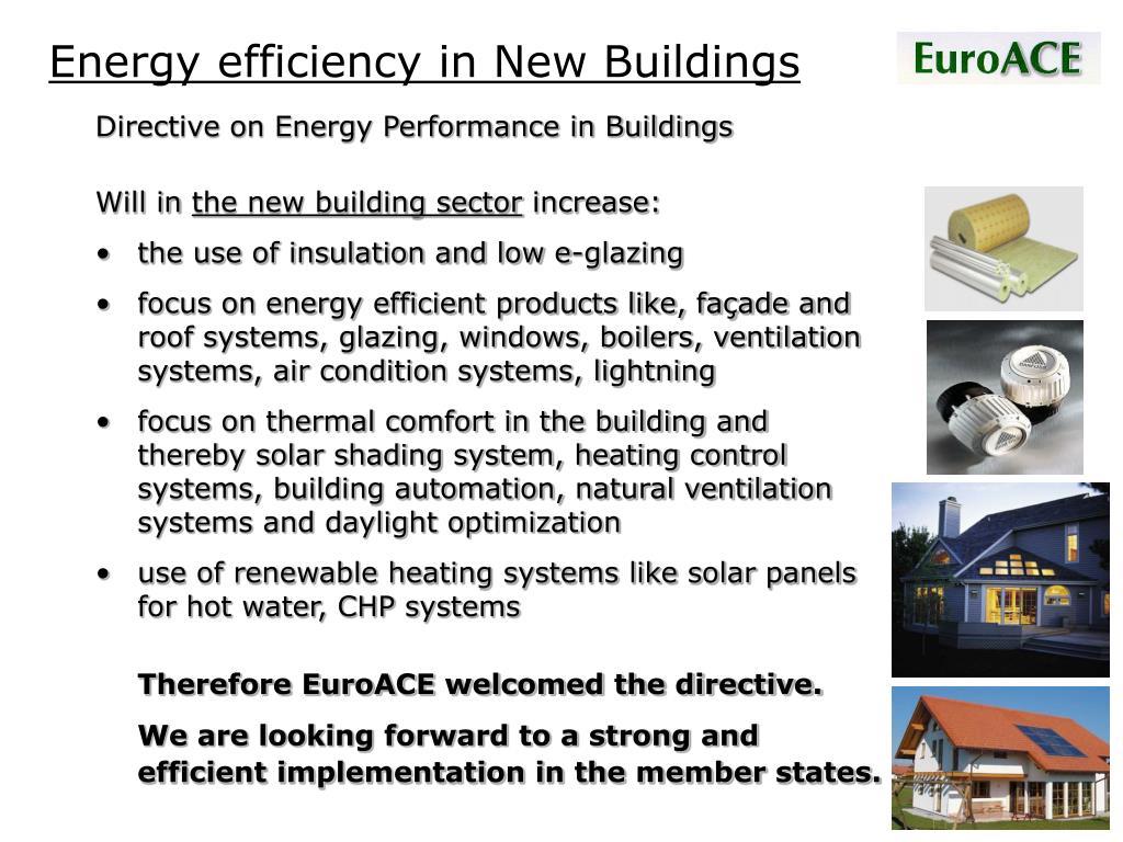 Energy efficiency in New Buildings