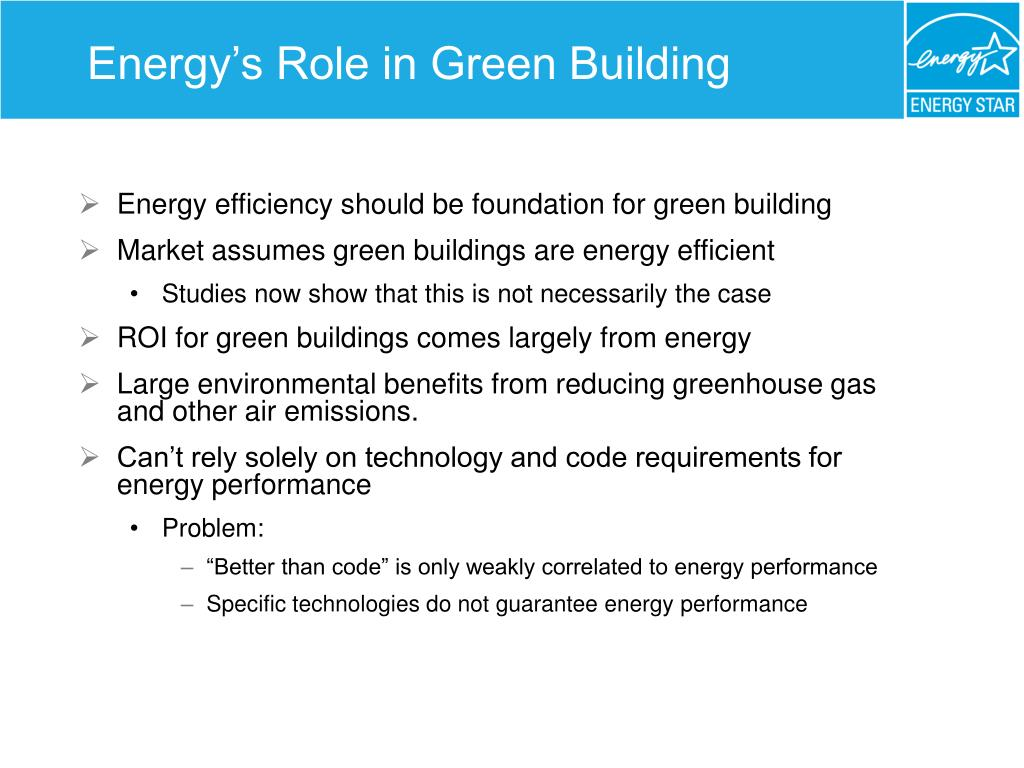 Energy's Role in Green Building